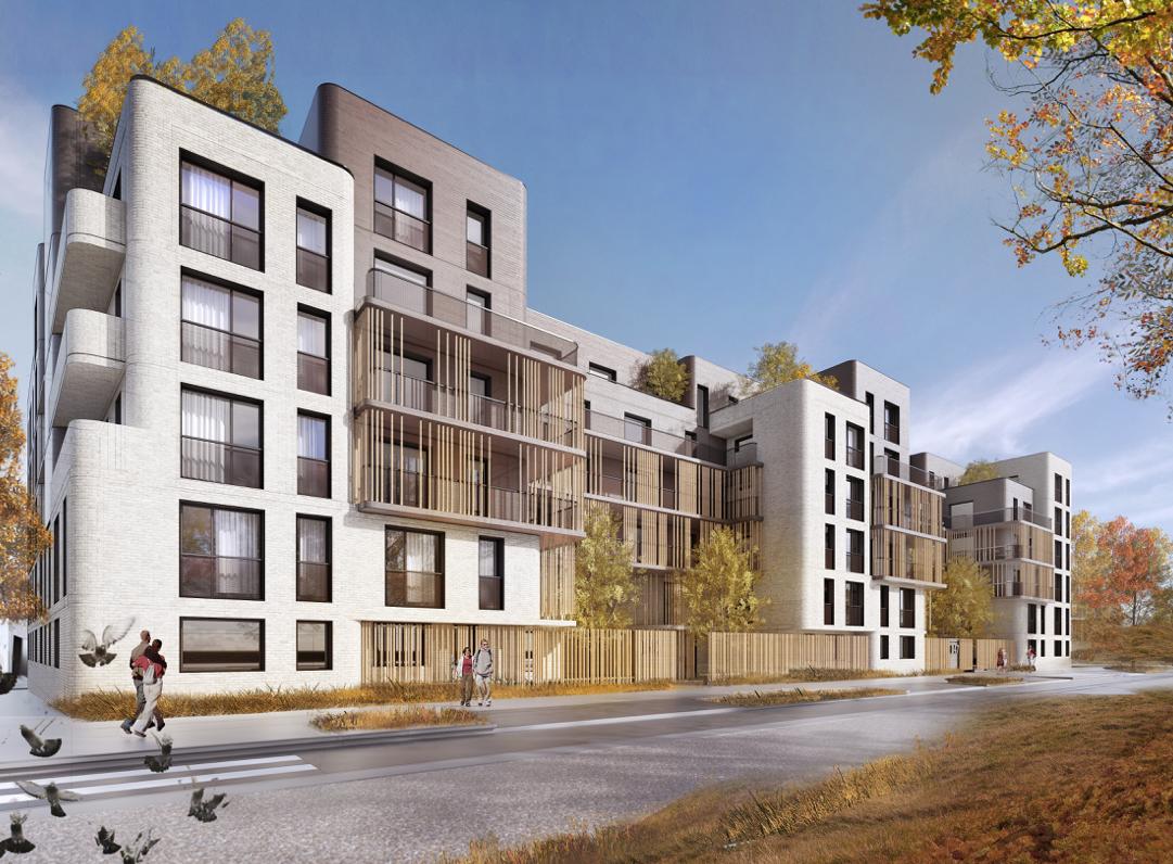 Les travaux du programme de 129 logements d velopp par for Courant architectural